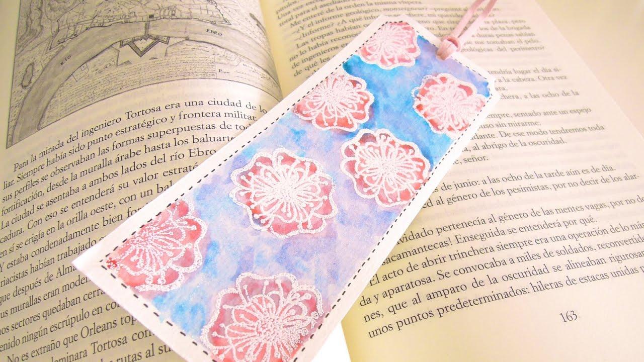 Día Internacional del Libro: Cómo hacer un punto de lectura con efecto acuarela. TUTORIAL