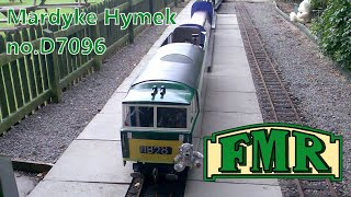 preview picture of video 'Fancott Miniature Railway Hymek D7096 (Line side shot)'