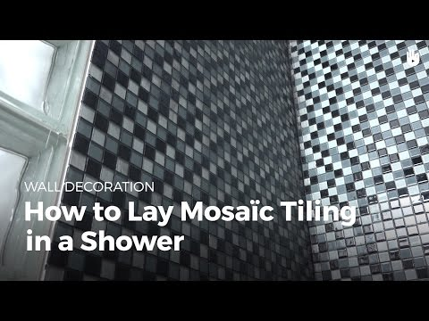 How to Lay Mosaic Tiles in a Shower | DIY Projects