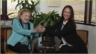 Betty White Receives a Legacy Award from Jennifer Love Hewitt