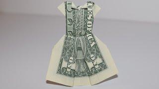 Dollar Origami: Dress | 1Dollar | Easy Tutorials And How Tos For Everyone #Urbanskills