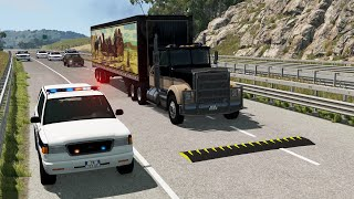 Police Spike Strip Deployments | BeamNG.drive