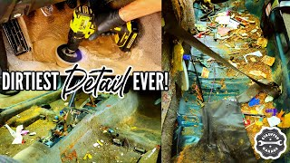 Complete Disaster Full Interior Car Detailing Transformation! DEEP CLEANING A Really DIRTY CAR!