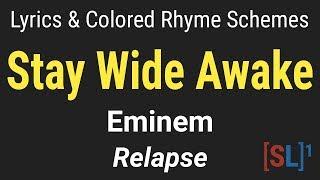 Eminem - Stay Wide Awake - [Lyric Video & Colored Rhyme Scheme]