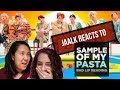 "JAALK REACTS TO BAD LIP READING ""Sample of My Pasta"""