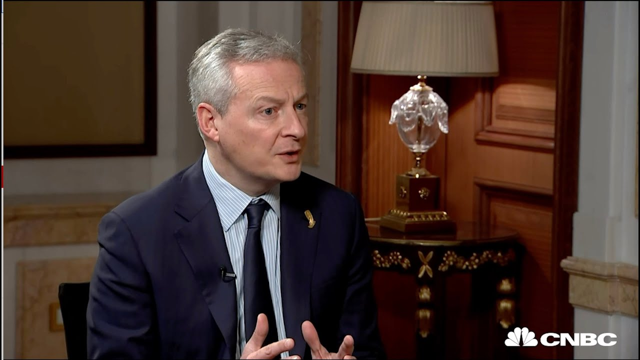 Complete Interview: France Financing Minister Bruno Le Maire CNBC International thumbnail