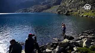 Kaçkar Dağları'nın zirvesinde 'buzul gölü'