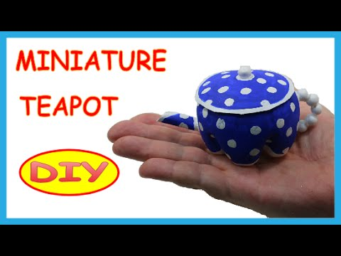 DIY Crafts Ideas: Plastic Bottles Miniature Teapot -  Recycled Bottles Crafts How to Tutorial