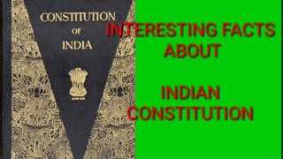 Facts Indian Constitution