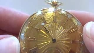 Antique 1820s solid 18k gold pocket watch