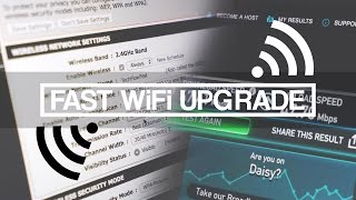 Easy 10x Faster WiFi Speed and Range UPGRADE!