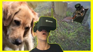 Seeing Through My Dogs Eyes With FPV camera!