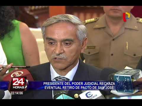 Presidente del Poder Judicial rechaza eventual retiro de Pacto de San José
