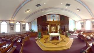 360 8k VR Catholic Church Our Lady of the Cenacle Parish - Richmond Hill Queens NY - Father Michael