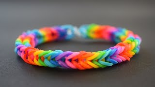 DIY - How To Make Rainbow Loom Bracelet With Your Fingers - EASY TUTORIAL - Friendship Bracelet