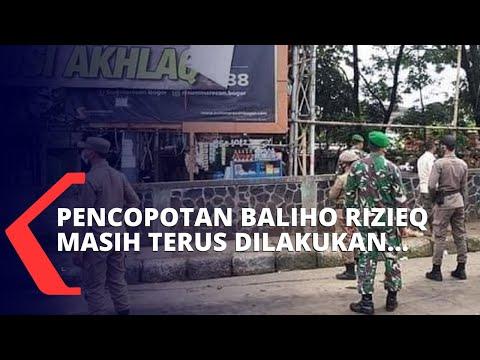 baliho rizieq dinilai tidak memiliki izin satpol pp pemasangan baliho ini tidak lapor pemkot