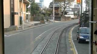 熊本電鉄 併用軌道区間【黒髪町~藤崎宮前】前面展望