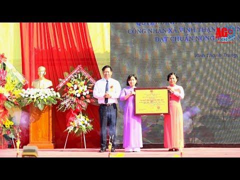 Vĩnh Thạnh Trung đón bằng công nhận xã đạt chuẩn nông thôn mới
