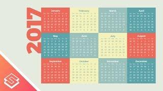 Inkscape Tutorial: Simple Vector Calendar Design