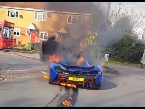 В Англии по непонятным причинам сгорел эксклюзивный гиперкар McLaren P1