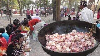 Full Chicken Biryani Preparation for 200 Students|Exciting Outdoor Food Enjoyment|Street Food Online