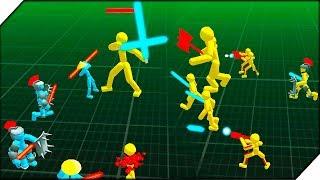 ДИКИЙ ВЕЛИКАН СТИКМЕН - Игра Stickman Simulator Battle of Warriors - Android