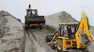 JCB Dozer Amazing Work On Sandy Place - Crusher Sand Seems Like Sandy Hill - JCB VIDEO