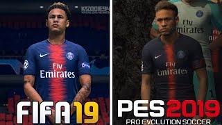 FIFA 19 VS PES 2019   Graphics Comparison