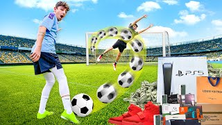 Score the Goal, I'll Buy You ANYTHING - Soccer Challenge