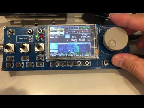 mcHF SDR QRP transceiver kit resceiving signal - Youtube