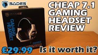 DO NOT BUY! SADES SA-903 Cheap 7.1 USB Gaming Headset Review and Mic Test