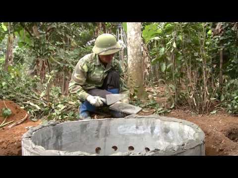 Hướng dẫn xây dựng cầu tiêu thấm dội bằng ống bi bê tông