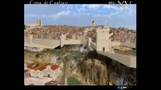 preview picture of video 'City of Cagliari - 3D reconstruction - Sec. XV'