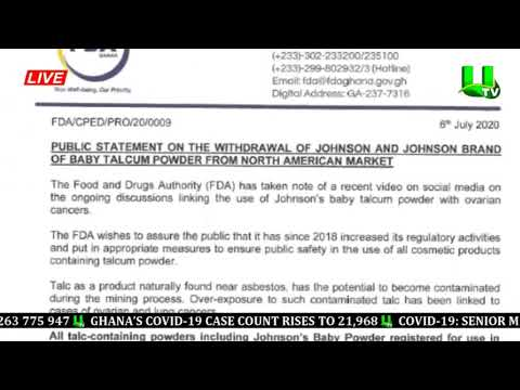 FDA Issues Press Statement To Recall Baby Talcom Powder