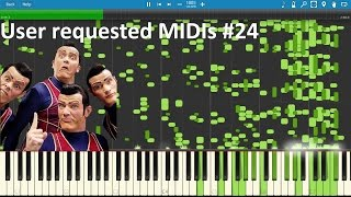 WeAreNumberOneconvertedtoMIDI+playedinSynthesia|UserrequestedMIDIs#24