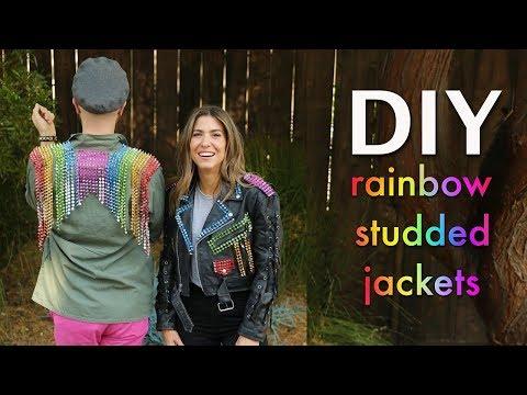 DIY: Rainbow STUDDED Jackets - By Orly Shani