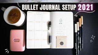 2021 Bullet Journal Set Up