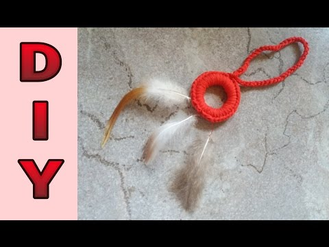 Mini Traumfänger aus Gardinenring häkeln  DIY       * Julebuergerfee