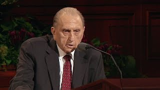 Child Sees Angels Bear President Monson Up