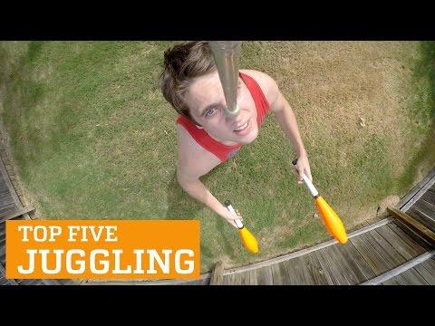 סרטון מדהים של אמני ג'אגלינג מוכשרים