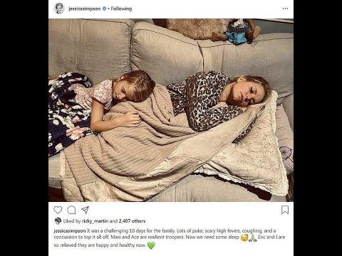 Jessica Simpson survives nursing her children back to health after nasty 10 day cold