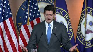 WATCH: Paul Ryan holds news briefing following announcement he won't seek re-election