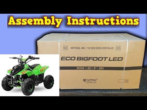 ECO BigFoot Electric Quad 800W 36V Unboxing - Full Assembly Instructions