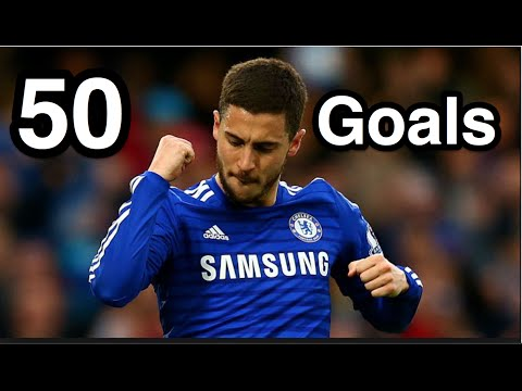 Eden Hazard - First 50 Goals For Chelsea FC - HD
