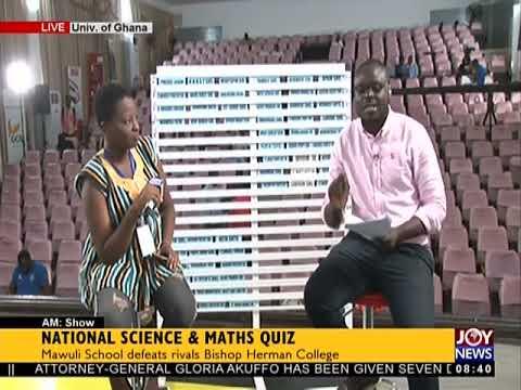 National Science And Maths Quiz - AM Show on JoyNews (22-6-18)