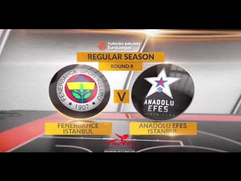 EuroLeague Highlights RS Round 8: Fenerbahce Istanbul 88-80 Anadolu Efes Istanbul