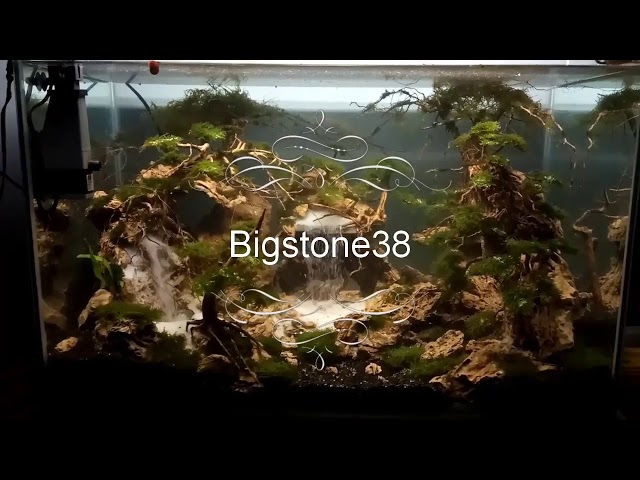Aquascape sand waterfall / air terjun bigstone38