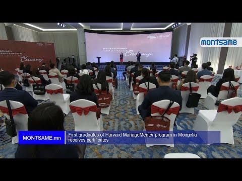 First graduates of Harvard ManageMentor program in Mongolia receives certificates
