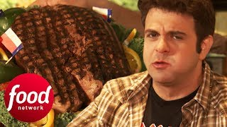 Adam Demolishes A Colossal Steak That's Bigger Than His Face! | Man v Food
