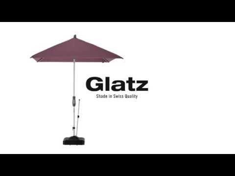 Alu-Twist - Hochwertiger Sonnenschirm mit Kurbel von Glatz
